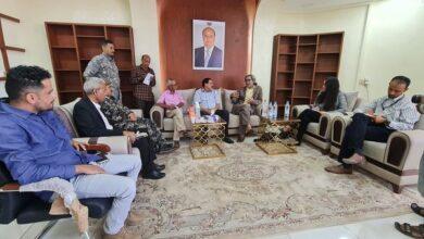 صورة مدير شرطة العاصمة عدن يلتقي مدير مكتب المبعوث الأممي